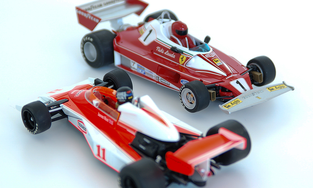 Maclaren M23 and Ferrari 312 T2 Slot Car